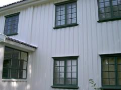 Fasade vindu etter