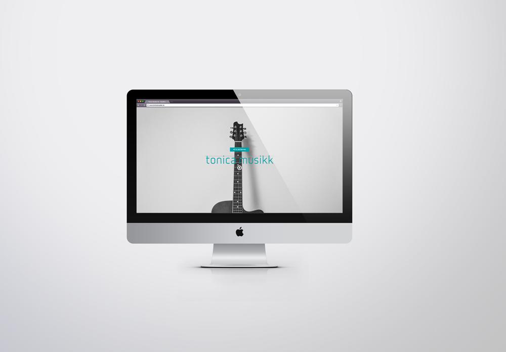 Tonica Musikk nettside