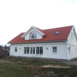 Arkitekttegnet bolig Øyekilveien 66. Nostalgisk utførelse, bygget i 2016
