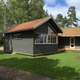 Rehabilitert og påbygget hytta Larkollen 2016